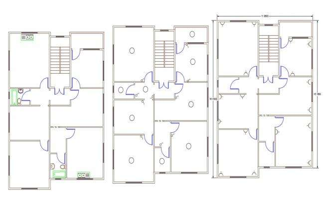 40 By 52 Feet House Electrical Layout Plan AutoCAD File