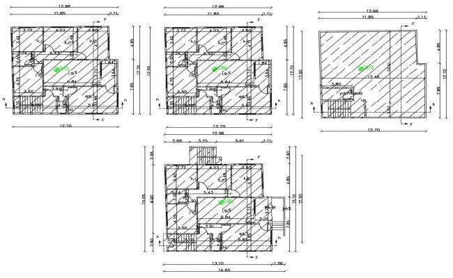 40 X 42 Feet AutoCAD House Plan Design