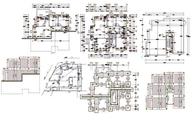 40' X 45' House Plan AutoCAD File (200 Square Yards)