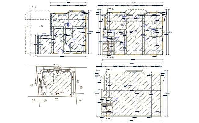 40' X 46' Architecture House Plan Design DWG File