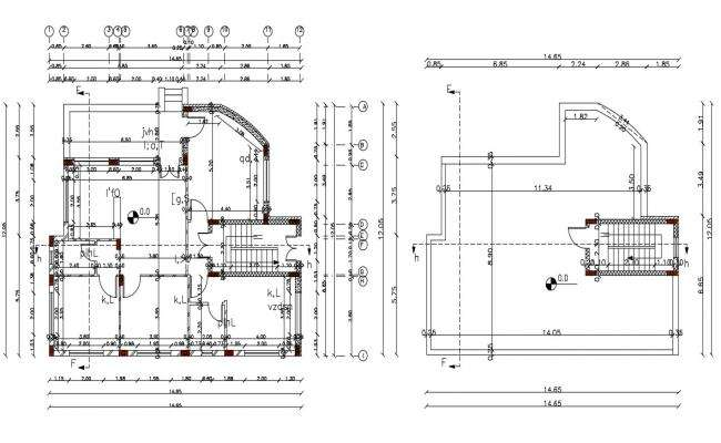 40' X 48' Architecture House Plan Design DWG File