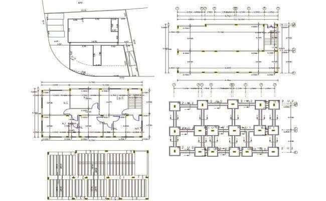 40' X 52' House Plan AutoCAD File