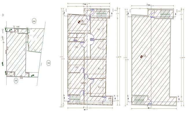 40 X 72 Feet Duplex House Floor Plan AutoCAD Drawing