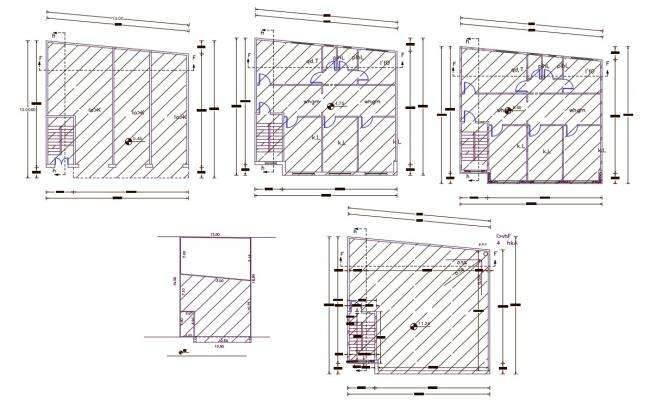 42' X 42' apartment Floor Plan AutoCAD File