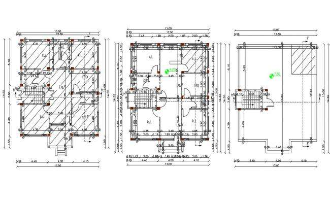 42 X 47 AutoCAD House Plan Design DWG File