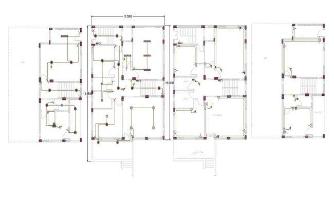 42 X 62 House Electrical Layout Plan Design DWG File