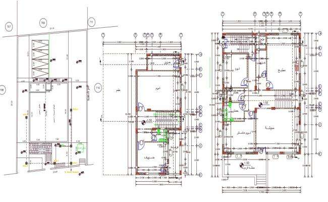 42' X 62' House Floor With Master Plan AutoCAD File