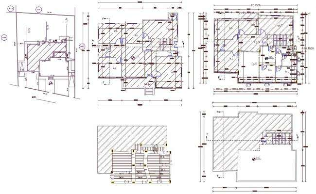 45' X 55' AutoCAD House Plan DWG File (275 Square Yards)