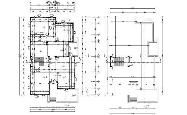 45' X 70' Ft (3150 SQ FT)  Bungalow Design Layout Working Plan