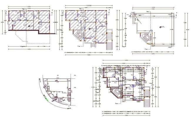 48 X 55 Feet Apartment Floor Plan AutoCAD File