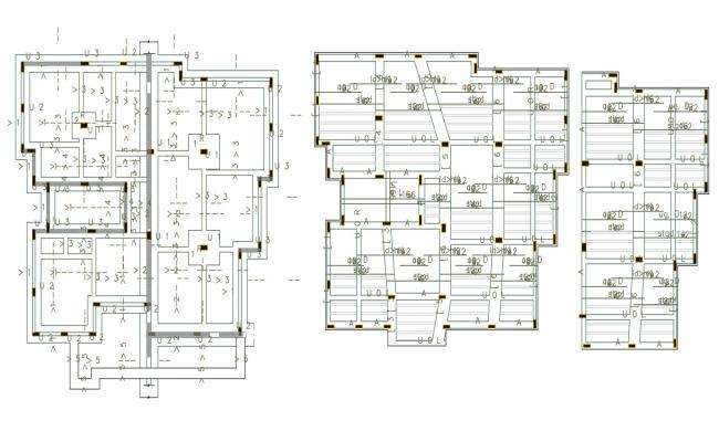 50 By 60 Feet 3 BHK House Construction Working Plan DWG File