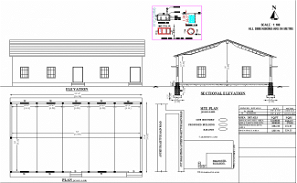 53'X31'Truss building Blueprint floor plan is given in this AutoCAD DWG file. Download 2D Autocad Drawing DWG file and PDF file.