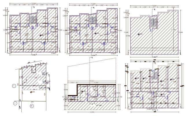 55' X 62' Apartment 3 BHK House Plan Drawing