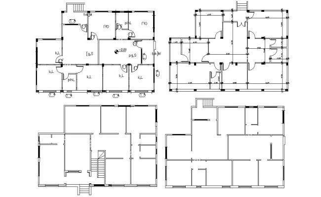 5 BHK House Plan Design AutoCAD File