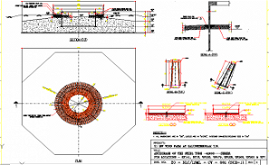Anchorage of the steel tube section details is given in this AutoCAD DWG Drawing File.Download the 2D CAD DWG file now.