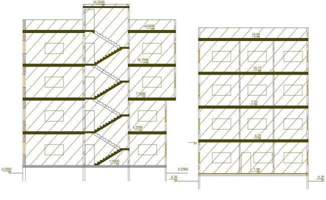 Apartment Building Section CAD Drawing AutoCAD File