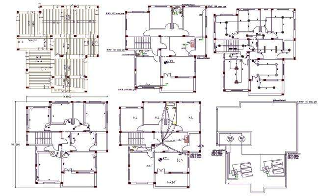Apartment Electrical And Plumbing Plan AutoCAD Drawing