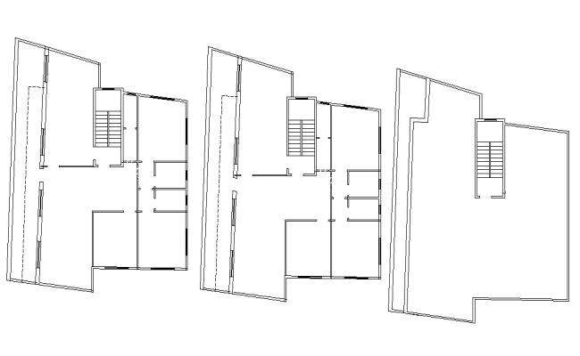 Apartment Layout Design 2d AutoCAD Drawing