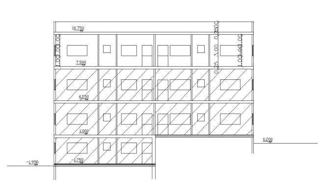 Apartment Section Design 2d CAD Drawing