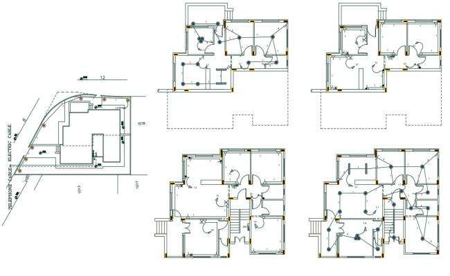 Architecture House Electrical Layout Plan AutoCAD File