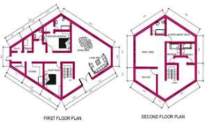 Architecture House Ground Floor And First Floor Plan DWG File