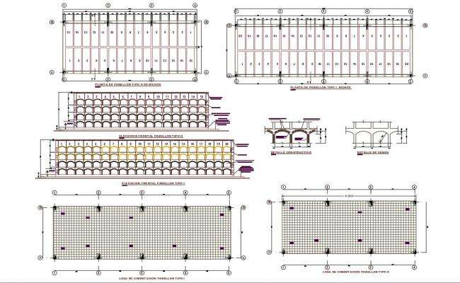 Auditorium Seating Arrangement Plan DWG File