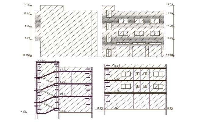 AutoCAD Apartment Building Design DWG File