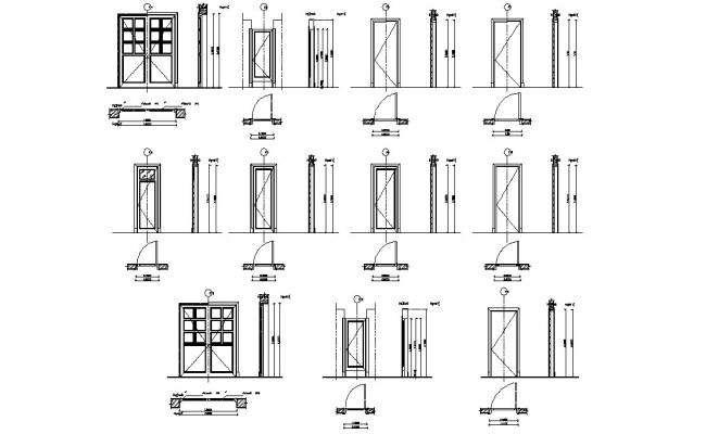 AutoCAD Door CAD Blocks Design DWG File