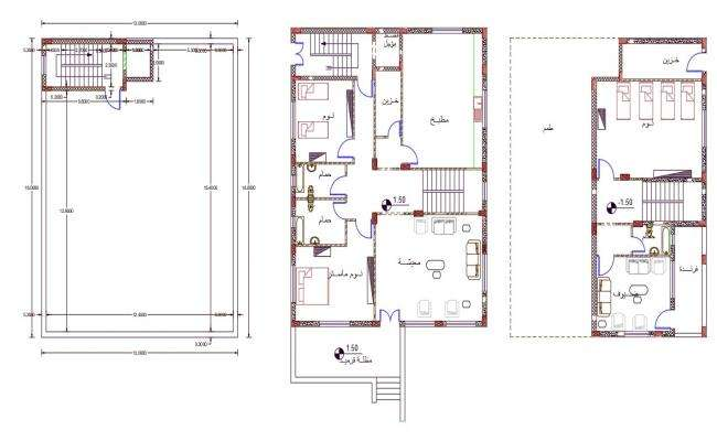 AutoCAD Drawing Of Family House Plan Design DWG File