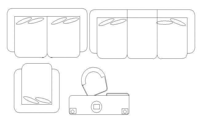 AutoCAD Furniture Blocks Elevation Design