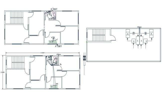 AutoCAD House Plumbing Layout Plan Design