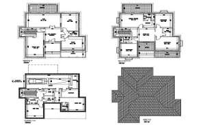 AutoCad 2D drawing file having the Individual villa floor plan with Basement car park facilities(Villa House Floor Plan). Download the AutoCAD 2D DWG file.