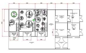 AutoCad DWG file showing sectional details of a HVAC system. Download the AutoCAD 2D file