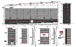 AutoCad DWG showing a big stadium plan. Download the AutoCAD 2D file