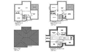 AutoCad drawing file having the  villa floor plan layout(Duplex house). Download the AutoCAD 2D DWG file.