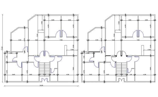 Bungalow Ground Floor And First Floor Plan Design