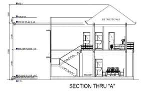 Bungalow section detail drawing specified in this Autocad file. Download this 2d Autocad drawing file.