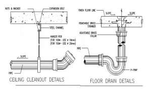 Ceiling cleanout details stated in this Autocad file.  Download this 2d Autocad drawing file.