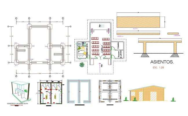 Chapel Project CAD Drawing DWG File