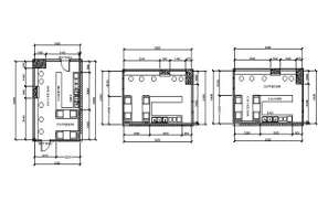 Coffee bar floor plan detail provided in this Autocad drawing file. Download this 2d Autocad drawing file.