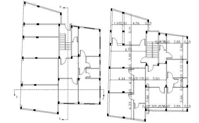 Column Marking Layout Plan CAD Drawing