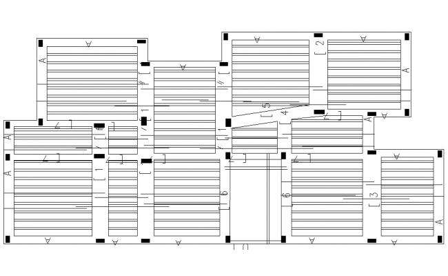 Column and RCC Slab Structure Design Detailed CAD Drawing