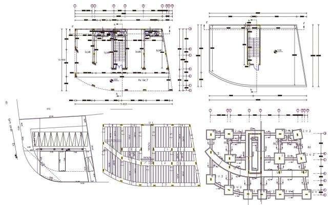 Commercial Building Floor Plan Design AutoCAD File