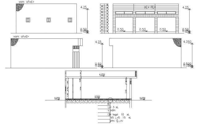 Commercial Shop Building Design Free DWG File