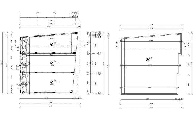 Commercial Shop Floor Plan With Terrace Design