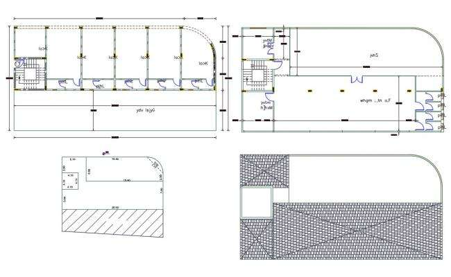 Commercial Shop Ground and First Floor Plan Design