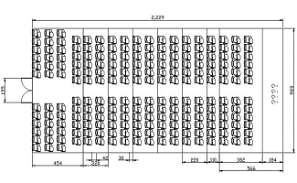 Conference hall seating arrangement Typical section details are given in this DWG CAD Drawing.Download the AutoCAD file now.
