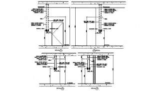 Door detailed section drawing is given in this AutoCAD Drawing. Download the AutoCAD 2D DWG file.