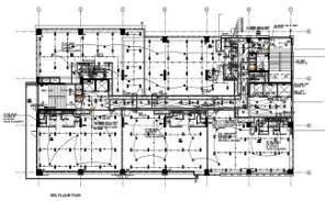 File shows the terrace floor plan, electrical layout, alarm layout,  lighting and fire fighter layout in the Autocad model.   Downlaod 2D Autocad file.