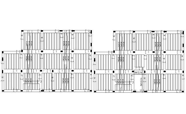 Free DWG Download Column Slab Bar Structure Design